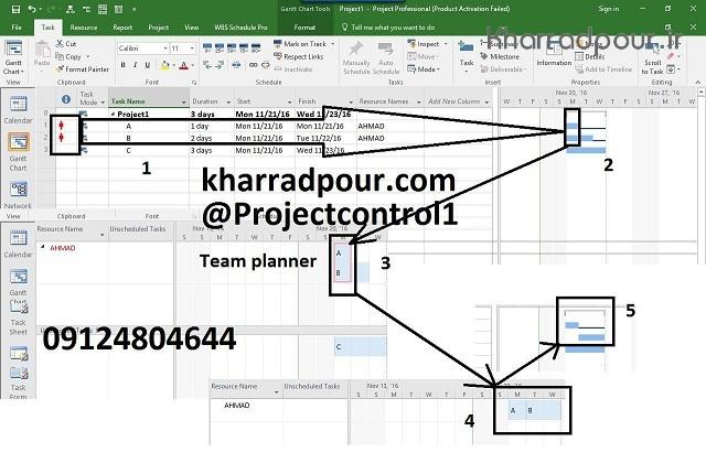 اضافه تخصیص در نرم افزار MSP و نمایه Teamplanner(پادکست)