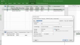 تغییرات با انتخاب Effort Driven در نرم افزار MSP (پادکست)